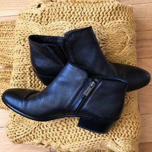 Sam Edelman Soft Leather Zip Side Ankle Booties